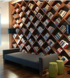 Ceramic stools and a great library...wow