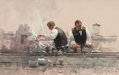 Afternoon Latte by Joseph Zbukvic - Greenhouse Fine Art
