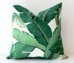 Palms pillow - so exotic! This reminds me of The Golden Girls (Blanche's Bedroom!). :)