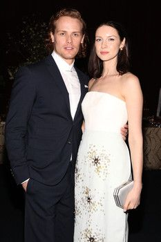 Interview with Sam Heughan and Caitriona Balfe from The Examiner - Sam Heughan and Caitriona Balfe talk about Outlander at Season 2 premiere