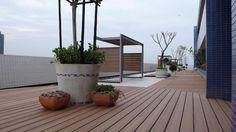 New high-tech green materials,Low Carbon wpc materials floor decking