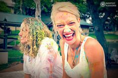 Sacred Pregnancy Instructor Training Retreat in Austin Texas. Holi Powder! Photos by Katie Mullins of Barefoot Blessings. www.sacred-pregnancy.com #sacredpregnancy #annidaulter