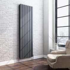 1800x532mm Anthracite Double Flat Panel Vertical Radiator