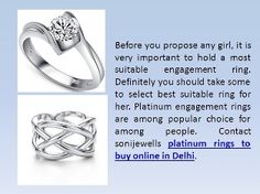 Platinum engagement rings are among popular choice for among people. Contact sonijewells platinum rings to buy online in Delhi. http://sonijewells.in/product.php?id=15
