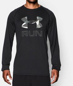 Shop Under Armour for Men's UA Run Big Logo Long Sleeve T-Shirt in our Mens Tops department.  Free shipping is available in US.