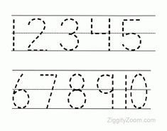 FREE printable number tracing worksheets Practice tracing skills and fine motor skills with your preschoolers and kindergartners. Get the free tracing number tracing worksheets for preschoolers. Pre K Worksheets, Printable Preschool Worksheets, Printable Numbers, Free Printable, Shapes Worksheets, Printable Alphabet, Handwriting Worksheets, Handwriting Practice, Alphabet Worksheets