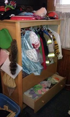 """Dresser turned Dress-up """"box"""" (YEAH MIKE!!) Maggie loves it :)"""