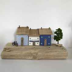 Star cottage pale blue hand crafted driftwood cottage
