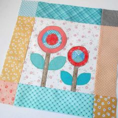 Block 39 - Bloom Block 5. Simple patchwork and applique for this Lori Holt/Riley Blake sew-along block.