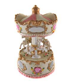 Carousel Music Box   Classical-HORSES-MUSICAL-CAROUSEL-MUSIC-BOX-Ornament-New-Arrival