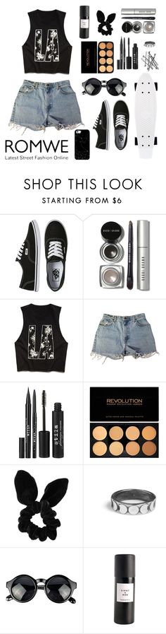 """""""Skate park"""" by fifi19 ❤ liked on Polyvore featuring Vans, Bobbi Brown Cosmetics, Forever 21, Levi's, Stila, Topshop, BOBBY, Eight & Bob, Casetify and women's clothing"""