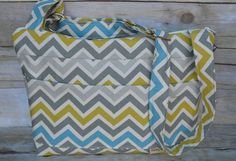 Ocean spray - Chevron camera bag