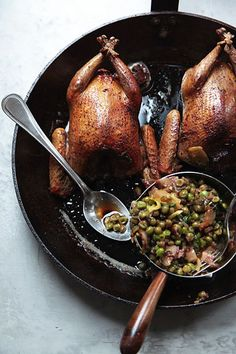 Squab and Braised Peas | SAVEUR