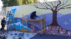 Amazing time-lapse video of the creation of the new mural at Robson Park. Artists Lindsey Adams and Linnea Strom took over one month to transform this wall into a mural. Thank you to Mt Pleasant Fa…