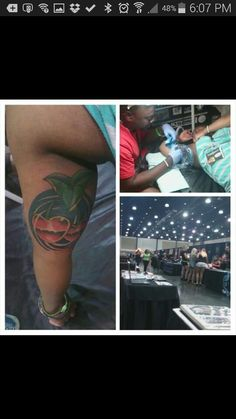 A tattoo performed by Trap Wright last year @ West Palm Beach #tattoomania