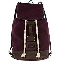 Purple duffle rucksack - rucksacks - bags / wallets - men