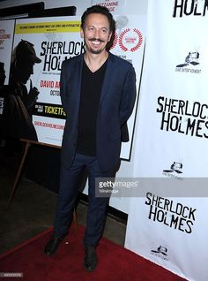 """Steve Valentine arrives at the Opening Night Of Sir Arthur Conan Doyle's """"Sherlock Holmes"""" at The Ricardo Montalban Theatre on October 2015 in Hollywood, California. Sir Arthur, Arthur Conan Doyle, Steve Valentine, Opening Night, In Hollywood, Sherlock, October, Age, People"""