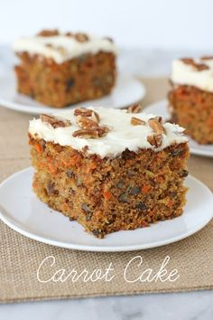 This delicious carrot cake recipe is loaded with nuts, raisins, pineapple and coconut, but works equally well when adjusted to your taste preferences!