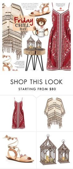 """""""Friday, Chill Day"""" by noviii ❤ liked on Polyvore featuring Banana Republic, Maje and Loeffler Randall"""