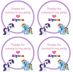 My Little Pony Birthday Party Ideas - Coupons Are Great