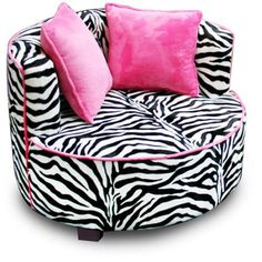 Redondo Tween Minky Chair, Zebra