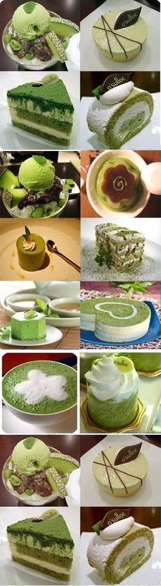 Matcha (Japanese green tea) cake In the paradise