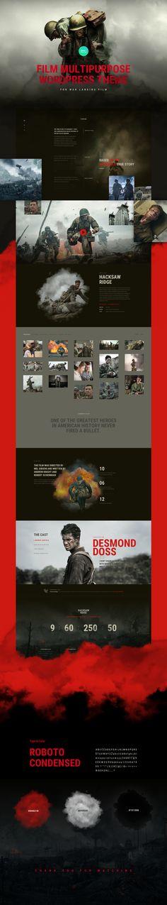 Free Design Landing Page For War Film on Behance