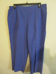 fbfcdeacbd2 Alfred Dunner Pants Pull On Violet Proportioned Short NWT 22W  563   AlfredDunner  CasualPants