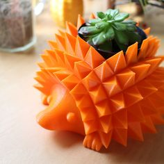 Medium Hedgehog Pot for Succulents and Cacti, 8 Colors by PrintAPot on Etsy