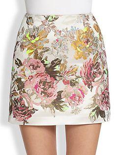 Valentino Printed Mini Skirt