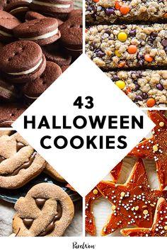43 Halloween Cookies to Bake This Spooky Season #purewow #fall #food #baking #halloween #cooking #party #dessert Pumpkin Sugar Cookies, Peanut Butter Cup Cookies, Brown Sugar Cookies, Oatmeal Chocolate Chip Cookies, Pumpkin Dessert, Homemade Apple Cider, Homemade Jelly, Halloween Cookies, Halloween Desserts