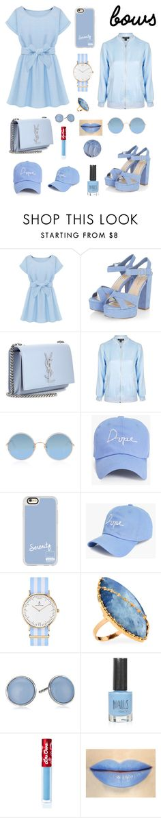 """""""#BOWS CONTEST"""" by clizia9 ❤ liked on Polyvore featuring Yves Saint Laurent, Topshop, Sunday Somewhere, Boohoo, Casetify, Kapten & Son, Lana, Skagen and Lime Crime"""