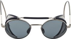 e9cc8d6ae622 Thom Browne  Grey  amp  Navy TB-001 Cage Sunglasses Thom Browne Sunglasses