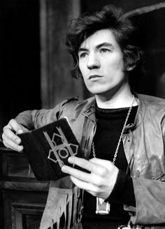 A very young, supremely cool (even way back then) Ian McKellen