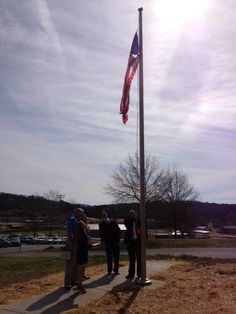 Today's ‪#‎tbt‬ is at Pleasant Valley raising the flag in March of 2014.