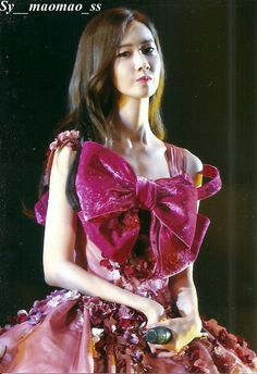 Yoona Red Ribbon Dress Florally