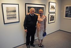 Noam Chomsky and me at my opening of After Hiroshima and Protesting Cartography, Chapel Hill, 2011