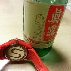 #Colour Lovers#Smoothie Watch#Red Cherry#Traditional Soju#Korean Alcohol#Saturday night#레드체리#진로소주#토요일밤#신나