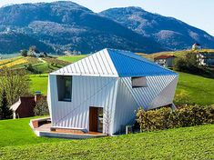Funky metal-clad home mimics patchwork topography in Slovenia | Inhabitat - Sustainable Design Innovation, Eco Architecture, Green Building