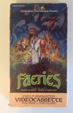Faeries VHS Animated Video 1981 Tomorrow Entertainement Hans Conreid Cartoon