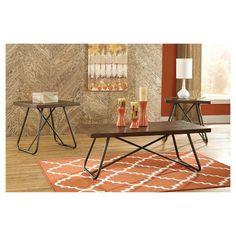 Endota Occasional Table Set Medium Brown - Set of 3 - Signature Design by Ashley : Target