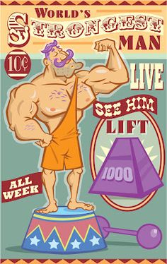 circus strongman poster - Google Search