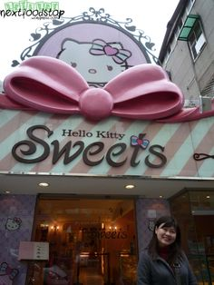 Hello Kitty Sweets Shop @ Christina Harmon we need to find this for you :-) Hello Kitty Crafts, Hello Kitty Items, Pink Love, Pretty In Pink, Sanrio, Cupcake Boutique, Cute Bento Boxes, Im A Princess, Miss Kitty