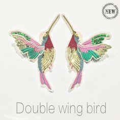 Günstige 1 para 3d paillette pailletten stickerei vögel patch applique nähen auf kleidung hemd docarate zubehör patchwork diy zc03, Kaufe Qualität   direkt vom China-Lieferanten: