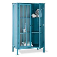 Windham Tall Storage Cabinet with Drawer Gray - Threshold ...