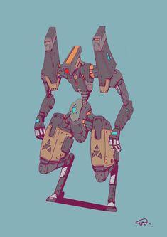 Cyberpunk Anime, Cyberpunk Art, Robots Characters, Anime Characters, Character Concept, Character Art, Mecha Suit, Arte Robot, Cool Robots