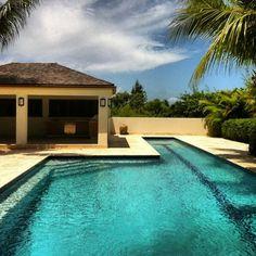 Beautiful lap swimming pool in the Bahamas. #itsbetterinthebahamas #bahamasrealestateforsale #eradupuchrealestate