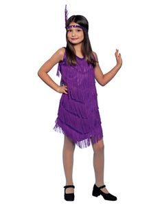 Purple Flapper Child Costume