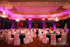 Beautiful wedding reception at the Hilton Houston Post Oak | Photo by Serendipity Photography