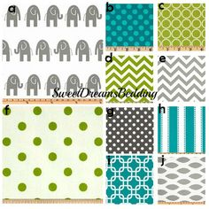 Custom Crib bedding - Turquoise, Grey and Lime green Baby Bedding Elephant Crib Bedding, Elephant Blanket, Baby Crib Bedding, Modern Baby Bedding, Custom Baby Bedding, Baby Boy Quilts, Baby Boy Rooms, Baby Room, Kids Rooms